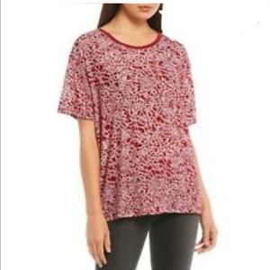 Free People We The Free Velvet Berry Combo Blouse